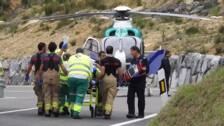 Herido grave un motorista en un accidente en Larrabetzu