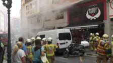 Incendio en una hamburguesería de Santutxu