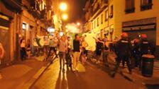 Fiesta de los argelinos en Bilbao La Vieja tras ganar la Copa África