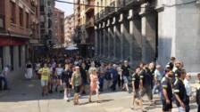 Masiva manifestación en Llodio por la muerte de un trabajador de Tubacex