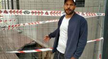 Un testigo relata cómo se ha formado un socavón en una calle de Vitoria