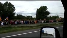 Manifestación kilométrica en Cataluña