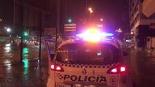 La tromba de agua anega calles en Málaga capital durante unas horas