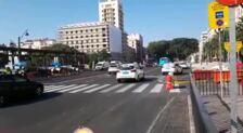 Málaga | La calzada central de la Alameda vuelve a acoger el tráfico privado