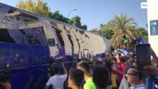 La afición recibió con cánticos al equipo antes de medirse al Cádiz