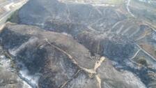 La zona quemada por el incendio de Marbella, a vista de dron