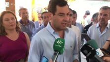 """Juanma Moreno: """"Esperamos que mañana pueda estar estabilizado el incendio de Estepona"""""""