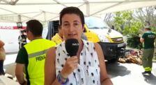 La periodista de SUR. Charo Márquez, explica cómo están las personas desalojadas