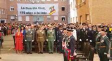 Actos de la Guardia Civil en Málaga: Himno de la Benemérita