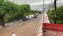 Trabajos de desescombro tras la riada en Alhaurín el Grande