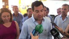 El presidente de la Junta, Juanma Moreno, explica la última hora del incendio de Estepona