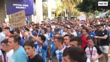El vídeo de la manifestación de malaguistas contra Al Thani en La Rosaleda