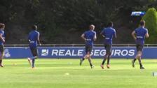Los jugadores de la Real se someten a la pruebas físicas