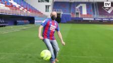 Pepe Viyuela, jugador del Eibar por un día