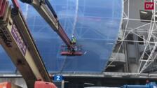 El ETFE viste la tribuna Principal de Anoeta