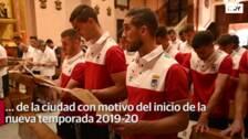 Ofrenda floral del CD Badajoz a la Patrona de la ciudad