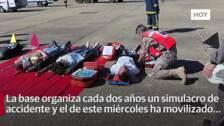 La Base Aérea de Talavera organiza un simulacro de accidente de avioneta
