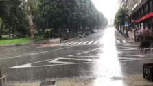 Fuerte granizada en Oviedo