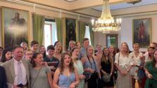Himno de Asturias en el Ayuntamiento de Oviedo