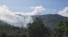Incendio forestal en Valdés