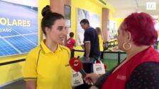 Amelia Glava, reportera por un día con EL COMERCIO