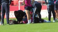 El sportinguista Babin se retira del entrenamiento por una contusión en la cabeza