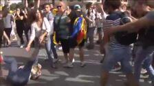 Agresión a una mujer con una bandera de España en Tarragona