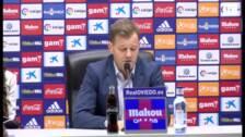 Manuel Mosquera: «Un punto no me sabe a menos, a veces nos olvidamos de que el Oviedo es un equipazo»