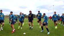 El Sporting continúa su preparación de cara al partido del Elche