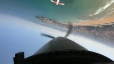 Las impresionantes imágenes de la Patrulla PC-7 sobrevolando Gijón