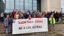 Protestas ante los juzgados de Gijón contra los ultras