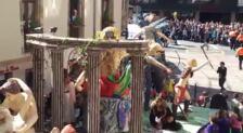 Desfile de carrozas en Reinosa en las fiestas de San Mateo 2019