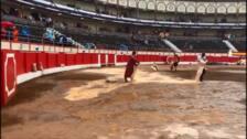 La lluvia amenaza la corrida de toros de esta tarde