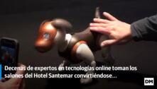 Javier Sirvent hizo una demostración con un perro autómata de la empresa Casual Robots