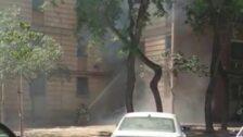 Varios heridos en el incendio de un bloque de pisos en La Paz