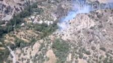 Incendio en Cástaras, en la Alpujarra