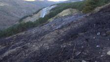 Visitamos el lugar del incendio en Sierra Nevada