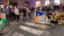 La tensión en la protesta de Granada contra la sentencia del Procés crece por momentos