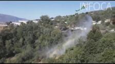 Espectacular descarga del helicóptero Delta 4 en La Taha