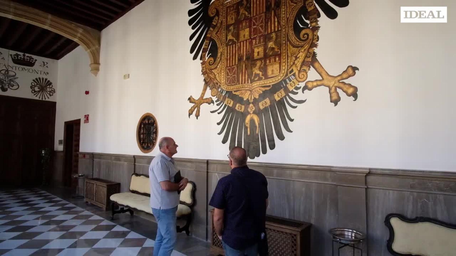 Los escudos de la Chancillería recuperan su esplendor