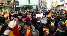 Gritos contra las manifestantes a favor de los presos de Alsasua en Calahorra