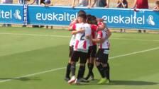 Los goles del Alaves B - UDL: un taconazo y un error defensivo