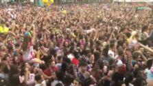 La plaza del Ayuntamiento canta Mi tierra es La Rioja, Logroño es mi pueblo