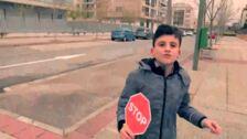 Alumnos de La Guindalera graba un video para conciencia sobre el aumento de los atropellos en Logroño