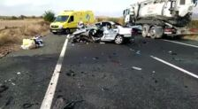 Accidente mortal en la N-232