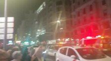 Ambiente en el centro de Madrid tras la protesta
