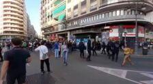 Ambiente previo a las manifestaciones del 9 d'Octubre en Valencia