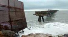 El temporal derrumba parte de un pantalán del Puerto de Sagunto