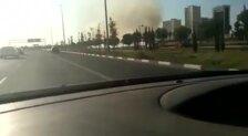 Incendio en unos matorrales cerca de Sociópolis, Valencia