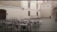 Las lluvias dejan 13 litros de agua por metro cuadrado en Valladolid